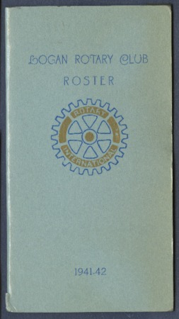 Logan Rotary Club Roster, 1941-42