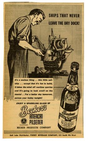 Advertisement for Becker's American Pilsner Beer (10 of 18), 1944