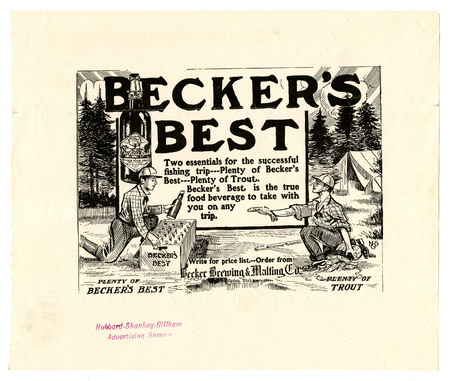 Advertisement for Becker's Best (23 of 29), c. 1915