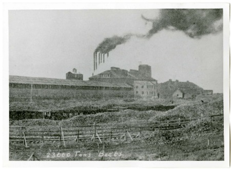 Photo and Statistics of Ogden, Utah's Amalgamated Sugar Beet Factory, 1913<br />