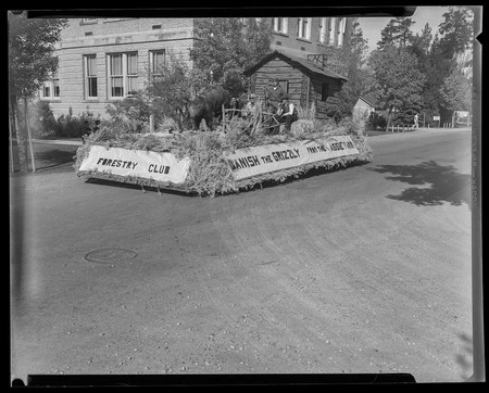 USU Forestry Club Homecoming parade float, 1953