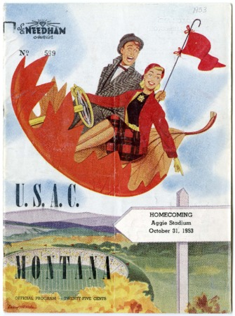 Football program - Utah State vs Montana State, October 31, 1953