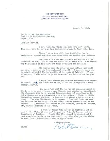 Robert Donner's Accusations