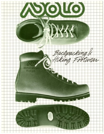 Asolo Backpacking & Hiking Footwear, 1981
