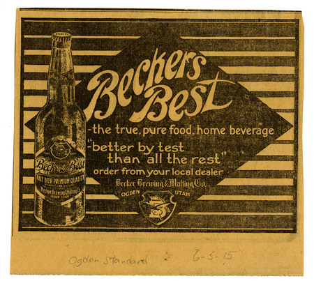 Advertisement for Becker's Best (11 of 29), 1915