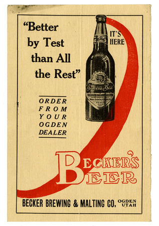 Advertisement for Becker's Best (7 of 29), c. 1910