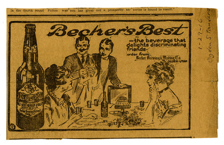 Advertisement for Becker's Best (14 of 29), 1916