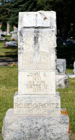 Logan cemetery headstone, 4