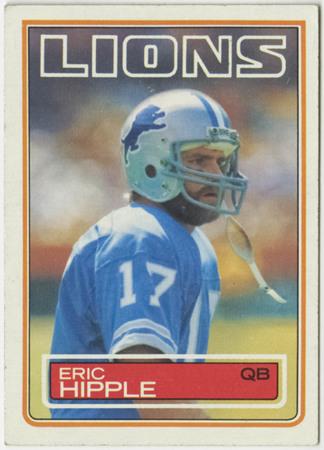 Football card - Eric Hipple, Detroit Lions, 1983
