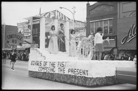 USU Homecoming parade on Main Street, 1965