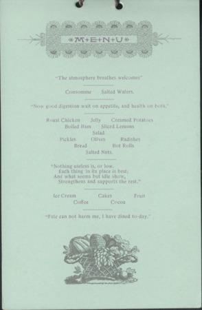 1895 UAC Commencement Menu, Page 1