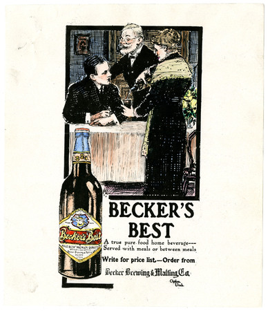 Advertisement for Becker's Best (3 of 29), c. 1910
