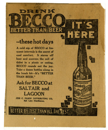 Advertisement for Becker's Becco (5 of 9), 1922