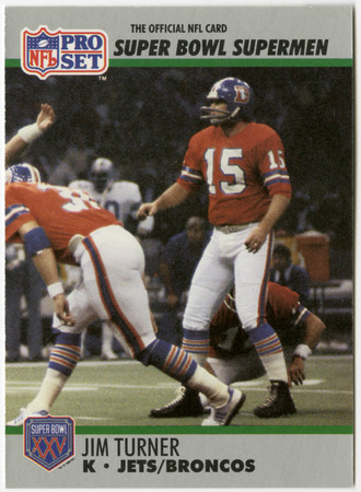 Football card - Jim Turner, All-Time SuperBowl