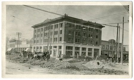 Construction of the Logan Rapid Transit System Line, Main and Center Street, Logan, Utah<br />