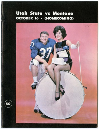 Football program - Utah State vs. University of Montana, October 16, 1965
