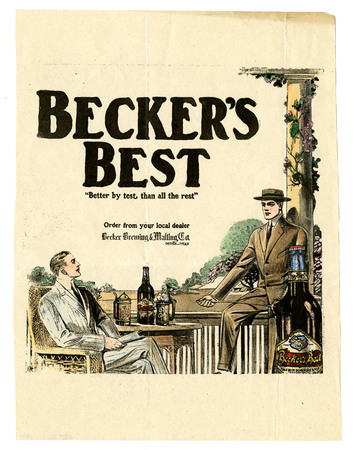 Advertisement for Becker's Best (21 of 29), c. 1915