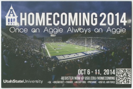 "Mailer - USU homecoming 2014, ""Once an Aggie, Always an Aggie."""