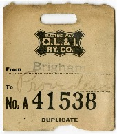 O.L.I Baggage Claim Ticket No. A41538, 1918<br />