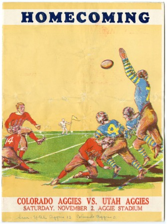 Football program: Utah State vs. Colorado State, November 2, 1935