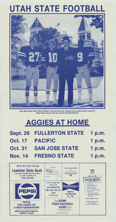 Football schedule, 1987