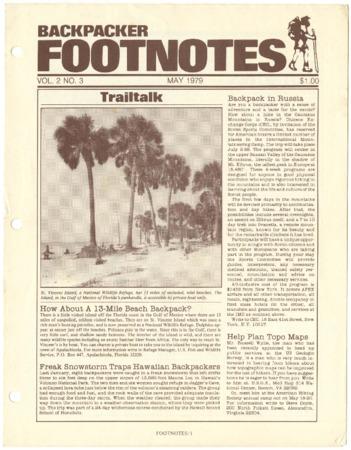 Backpacker Footnotes, May 1979