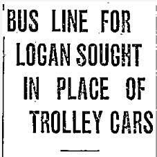 """Bus Line for Logan Sought in Place of Trolley Cars,"" Ogden Standard-Examiner, 1926<br />"