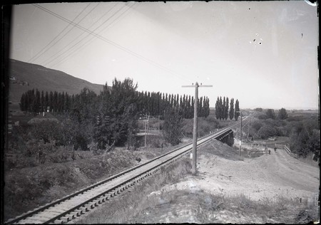 Railroad Tracks and Bridge, Franklin, Idaho<br />