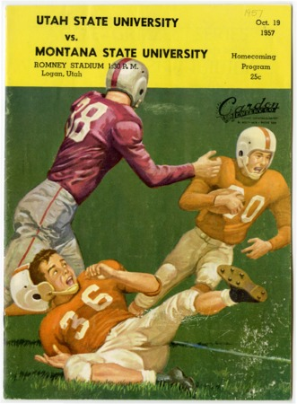 Football program - Utah State University vs. Montana State University, October 19, 1957