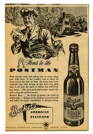 Advertisement for Becker's American Pilsner Beer (8 of 18), 1945