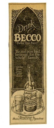 Advertisement for Becker's Becco (7 of 9), 1922