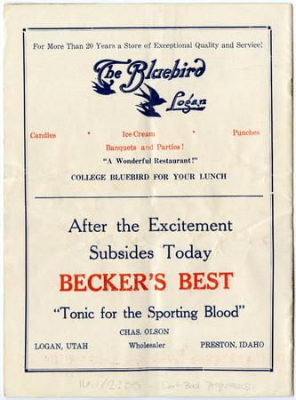 The Bluebird and Becker's ads, 1935