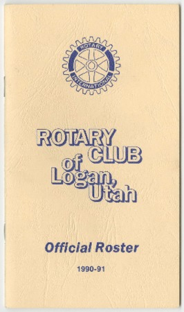 Rotary Club of Logan, Utah Official Roster, 1990-91