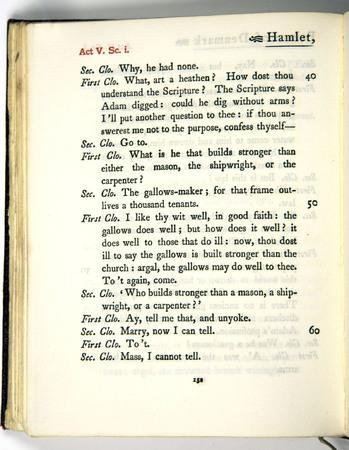 Hamlet, Act 5 Scene 1, c