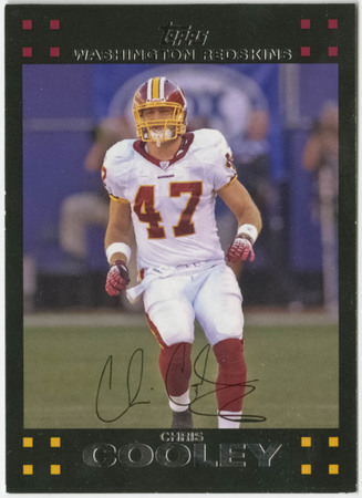Football card - Chris Cooley, Washington Redskins, 2007
