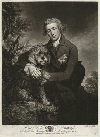 Henry Scott, 3rd Duke of Buccleuch with his dog