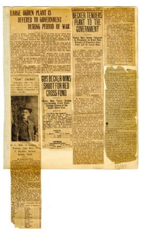 Gustav Becker Scrapbook Page (10 of 11), 1917