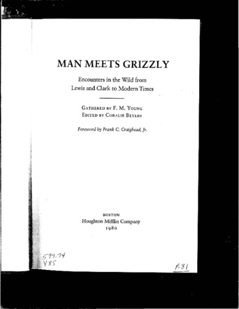 """""""Utah's Old Ephraim,"""" from Man Meets Grizzly"""