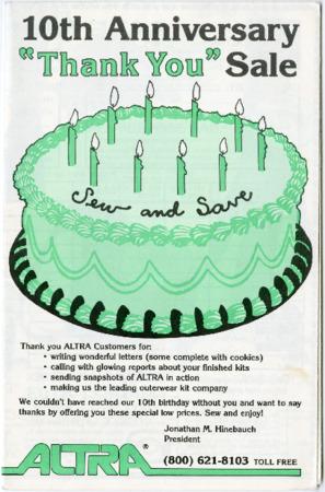 Altra Kits, 1985