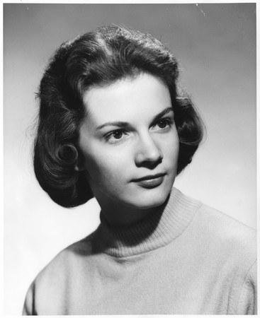 Melanie Poole, homecoming queen contestant, 1960