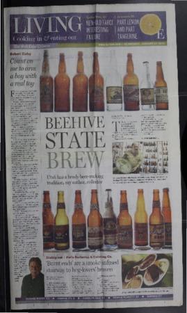 """Beehive State Brew"" Salt Lake Tribune Article, 2007"