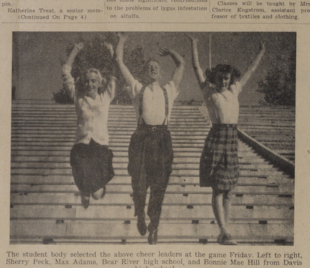 1945 cheerleaders in Student Life
