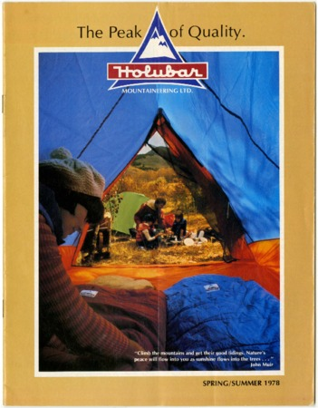 Holubar Mountaineering Ltd., The Peak of Quality, Spring/Summer 1978