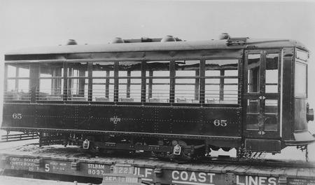U.I.C. Engine #65 Being Delivered to Ogden, Utah in 1919<br />