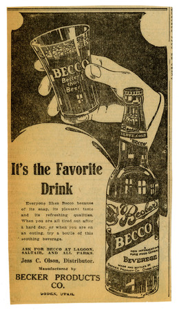 Advertisement for Becker's Becco (2 of 9), 1923