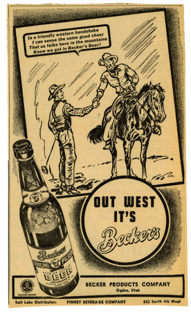 Advertisement for Becker's American Pilsner Beer (13 of 18), 1944