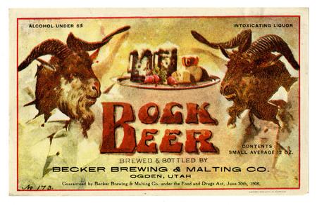 Bottle Label for Becker's Bock Beer, c. 1910