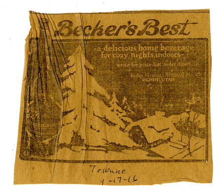 Advertisement for Becker's Best (15 of 29), 1916