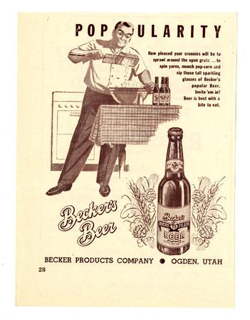 Advertisement for Becker's American Pilsner Beer (1 of 18), 1947