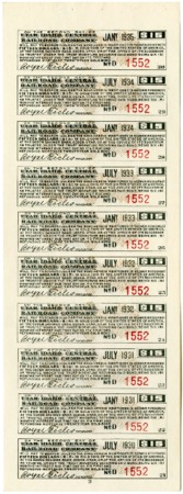 Utah-Idaho Central Railroad Company Bond Coupons<br />